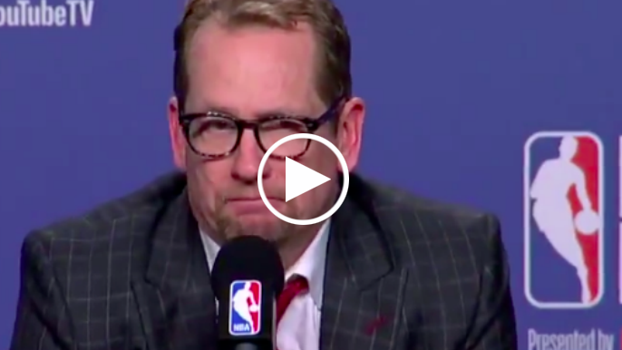 Nick Nurse reacts to Kevin Durant's Achilles injury