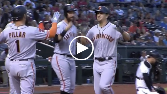 Alex Dickerson hits 458-foot grand slam in second Giants at-bat