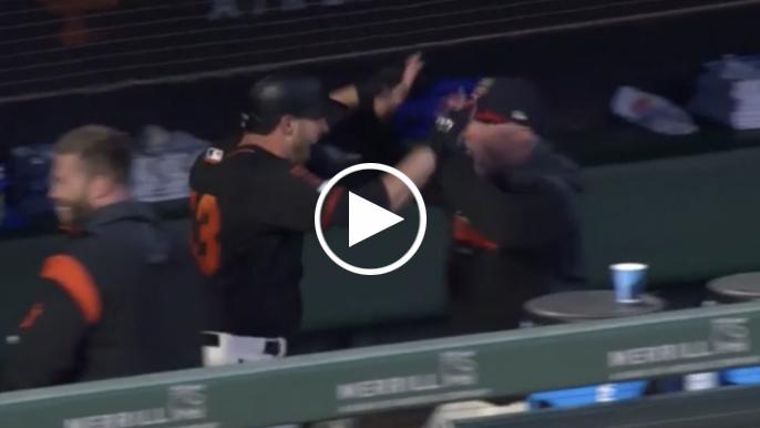 Austin Slater hits pinch-hit grand slam in wild Giants game