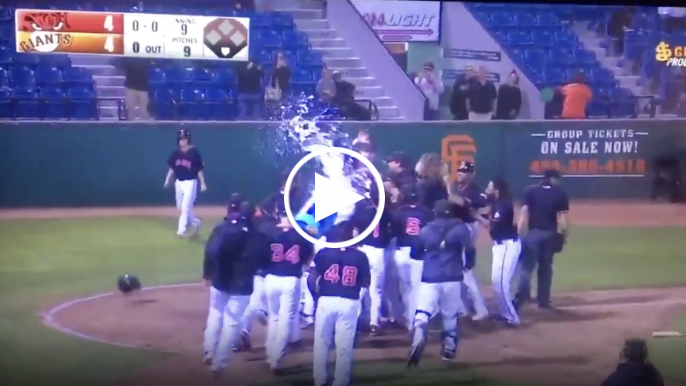 Giants prospect Heliot Ramos hits 404-foot walk-off home run