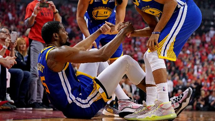 Kevin Durant breaks silence on Warriors' handling of calf injury