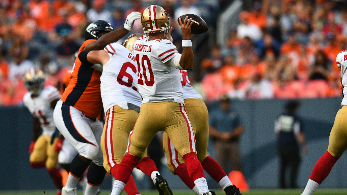 Garoppolo looks like he needs time to shake off rust, and that might be a problem for 49ers