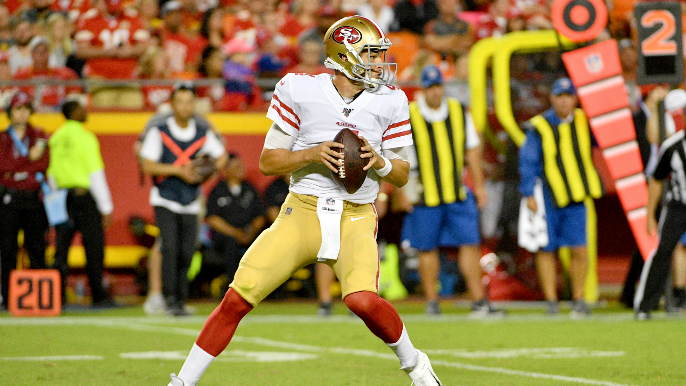 Shanahan says 49ers will keep all three quarterbacks, what that could mean for 53-man roster
