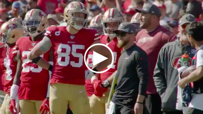 George Kittle explains hilarious sideline bit with Joe Staley
