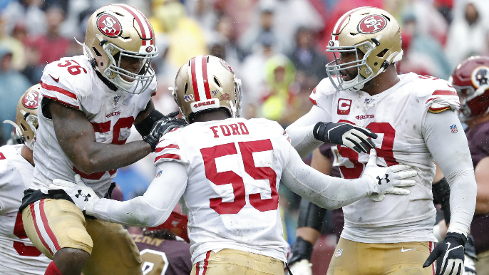 Defense superb again as 49ers trudge to mud bowl win over Redskins
