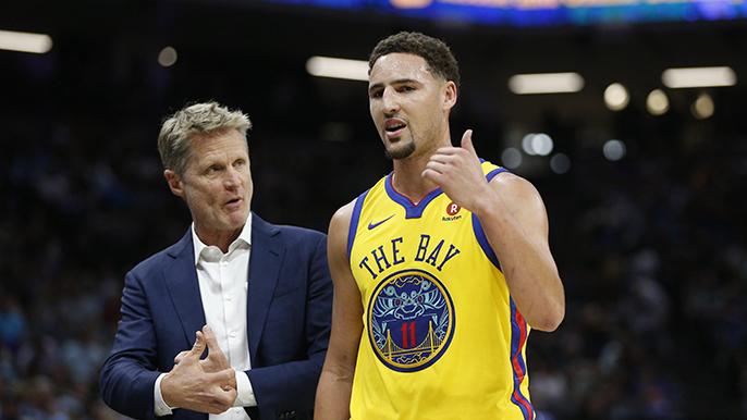 Steve Kerr: 'A little' frustration led to stating Klay Thompson likely will miss year