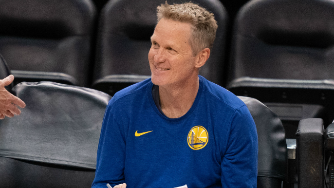 Steve Kerr made hilarious bet with coaching staff before Warriors-Pelicans game