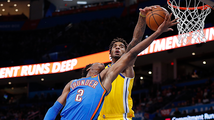 Warriors battle back from 23 points down, eventually fall in Oklahoma City