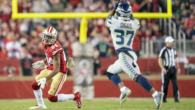 Kendrick Bourne discusses pair of crucial dropped passes in 49ers' first loss