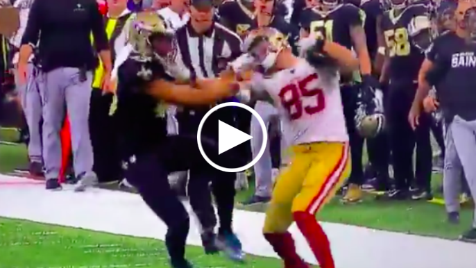 George Kittle's maniacal fourth-down catch and run all but sealed 49ers' enthralling win