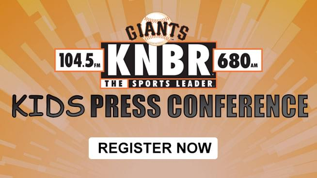 Register Now for the KNBR Kids Press Conference