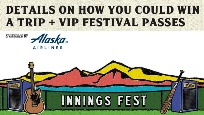 Listen to TKB January 27th-31st for the Innings Festival Giveaway