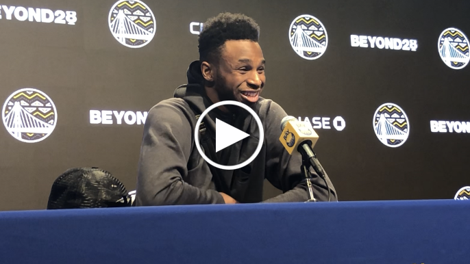 Andrew Wiggins on 'Woah' moment and what Steve Kerr learned about him from Tom Thibodeau