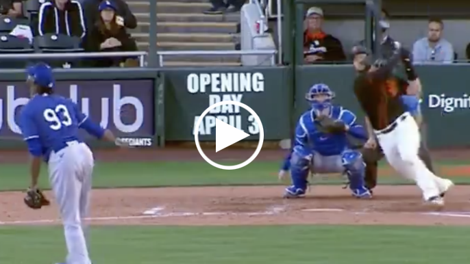 Watch Joey Bart launch home run in first spring training at-bat