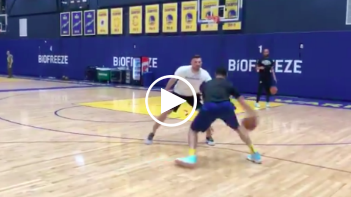 Klay Thompson steps up involvement in promising practice video