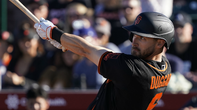 Giants option struggling pitcher and outfielder to Triple-A