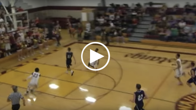 Here's a video of Kendrick Bourne throwing down an alley-oop in a high school basketball game
