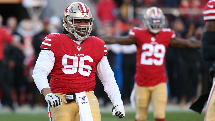 Defensive line pair departs as 49ers' find themselves in need of depth [reports]