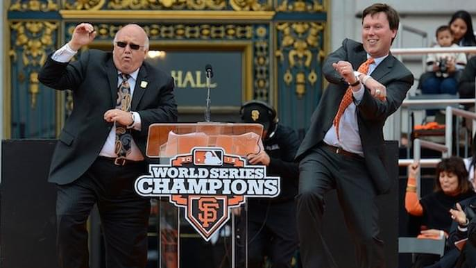 Watch Jon Miller, Dave Flemming call simulated Giants-Dodgers game