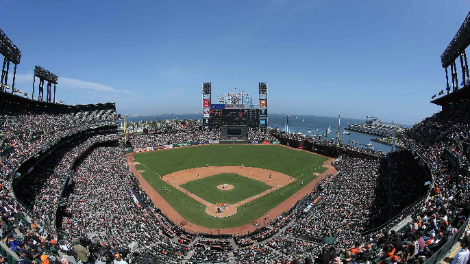 A Twitter account is flipping MLB ballparks around, here's what Oracle Park looks like
