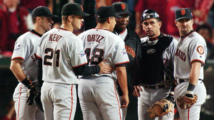 Dave Flemming argues that two overlooked Giants from 2002 team should get Hall of Fame consideration