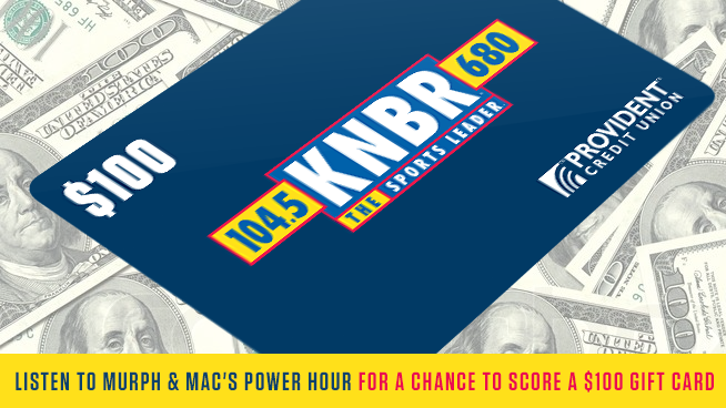 Listen for your chance to win a $100 Visa gift card