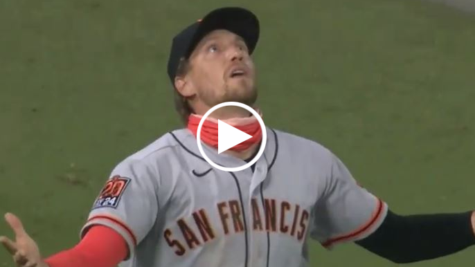 Hunter Pence loses ball in the skies and Johnny Cueto's no-hit bid