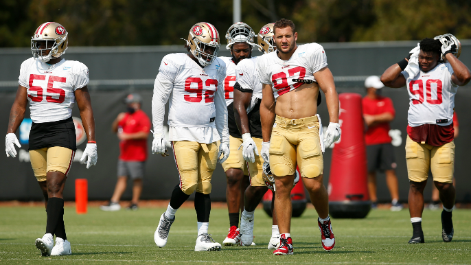 49ers Notebook: Aiyuk, Samuel outlooks, Nick Bosa's non-goals and who gets to imitate Kyler Murray
