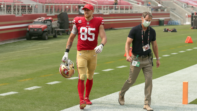 Kyle Shanahan provides update on George Kittle after knee injury