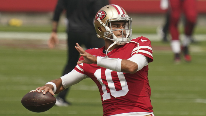 Those Jimmy Garoppolo throws 'weren't perfect' Kyle Shanahan says, taking blame off receivers