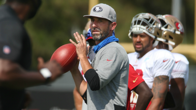 Kyle Shanahan blames son for bad luck in opening loss