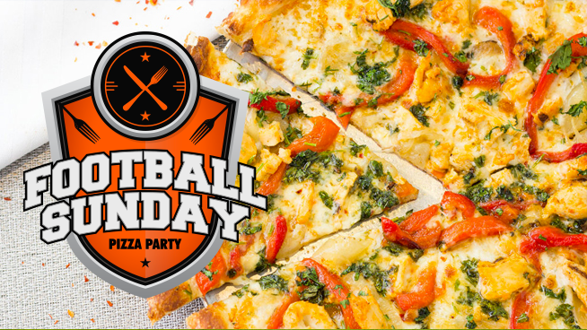 Tune in for your chance to win an Football Sunday Amici's Pizza Party