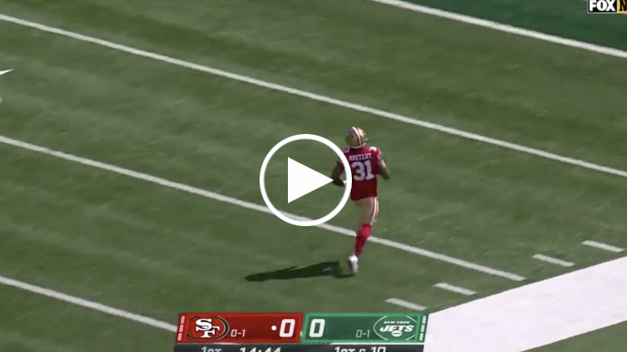 Raheem Mostert embarrasses Jets with untouched, 80-yard touchdown on first play