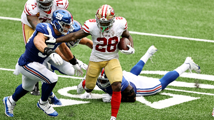 49ers smother listless Giants, secure consecutive easy wins on brutal New Jersey trip