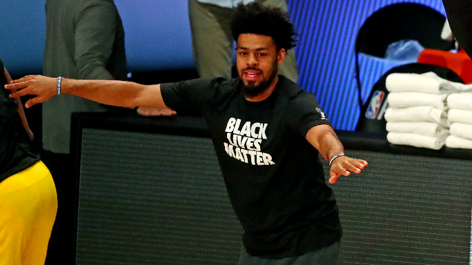 Quinn Cook says Lakers bus left arena without him: 'Gotta walk back after I win a f***in ring wtf'