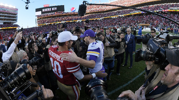 Mike Florio believes Kirk Cousins remains an option to replace Jimmy Garoppolo