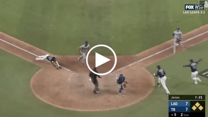 Rays walk-off Dodgers to even series in one of the wildest finishes you'll ever see