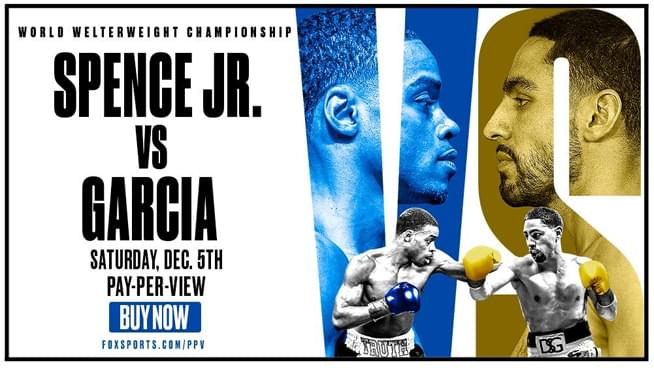 Enter for a chance to win a PPV code for Spence Jr. vs. Garcia