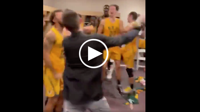 USF Dons go wild in locker room after shocking upset of No. 4 Virginia