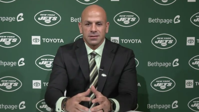 Saleh speaks as a Jet for first time, overwhelmingly fills staff with former 49ers