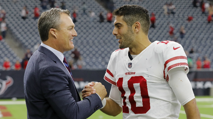 John Lynch: Jimmy Garoppolo is 49ers' quarterback, 'but we've probably got to add someone'