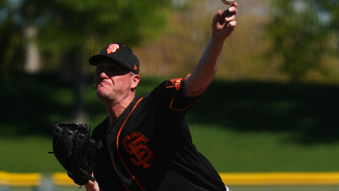 Giants' potential closer shows off dominant fastball and interesting slider