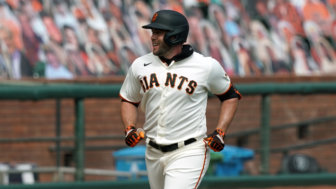 Giants may have to ask more from Darin Ruf, who's pretty happy right now