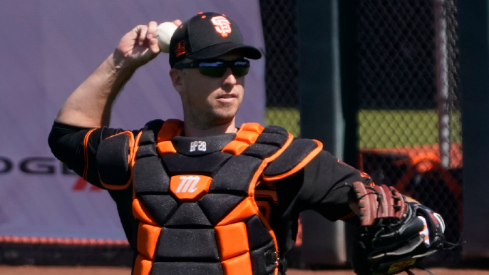 Buster Posey's arm sure looks healthy, too