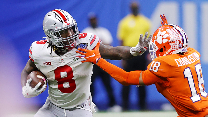 49ers trade up with Rams for standout Ohio State running back Trey Sermon