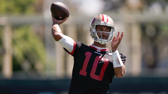 Jimmy Garoppolo says he's 'more than happy' to help Trey Lance, will lean on experience under Tom Brady