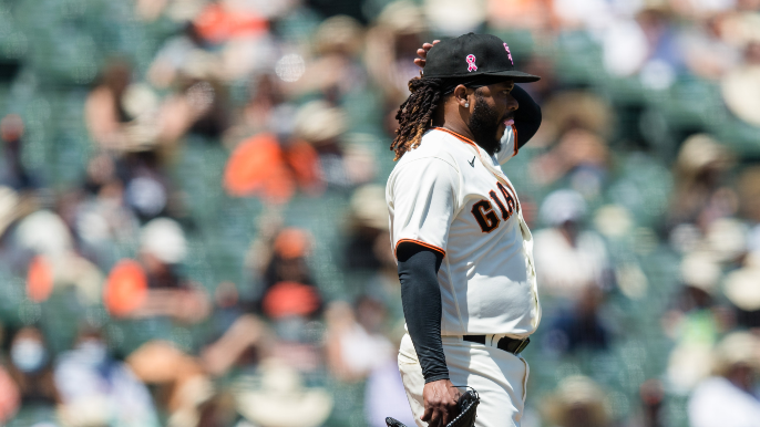 Johnny Cueto gets knocked around in return as Giants can't sweep Padres