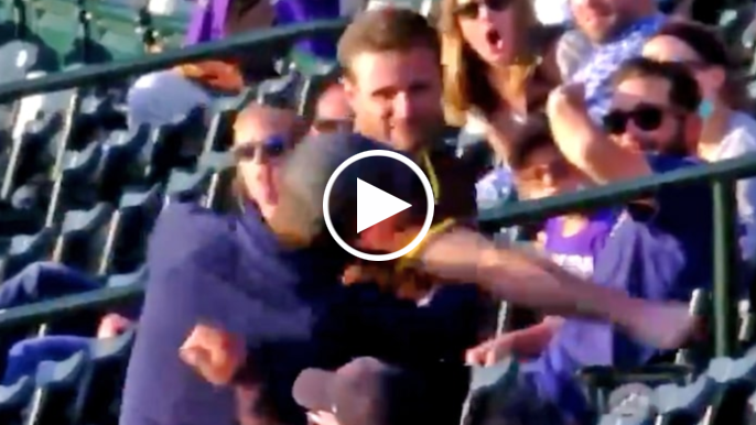 Padres fan knocks out Rockies fan leading to skirmish in stands