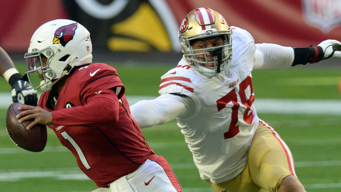 49ers defensive end suspended six games for violation of PED rules