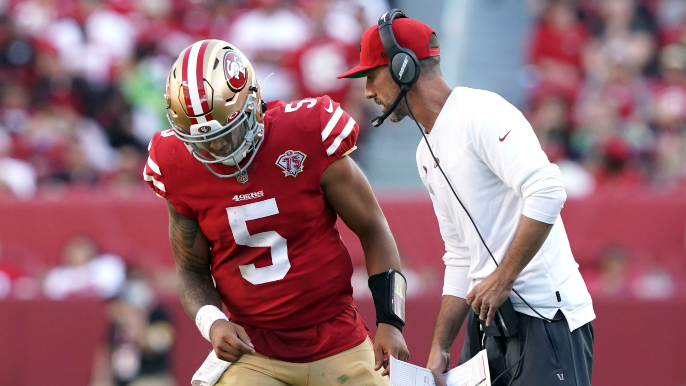 Kyle Shanahan takes issue with report over QBs, addresses Lance-Garoppolo situation